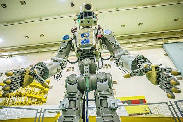 Le vaisseau Soyouz transportant le robot Fedor s'est arrimé à l'ISS