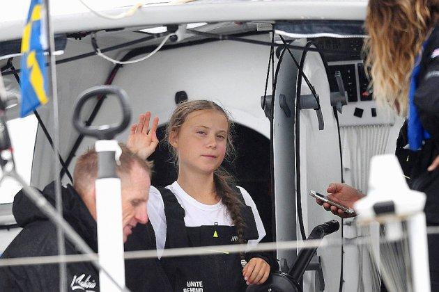 Après 15 jours de traversée, Greta Thunberg arrive en star à New York