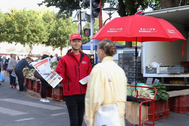 """Victor, crieur chez Tendance Ouest : """"J'aime le contact avec les gens"""""""