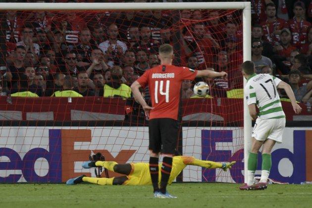 Ligue Europa: un penalty chacun pour Rennes et le Celtic