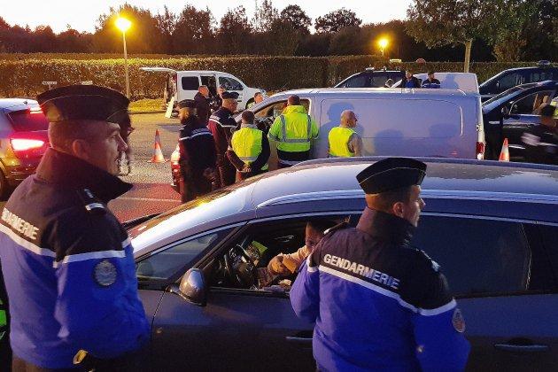 Énorme contrôle de gendarmerie sur l'autoroute A28