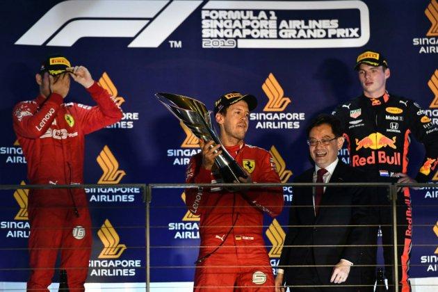 GP de F1 de Singapour: 1re victoire de Vettel en 23 courses