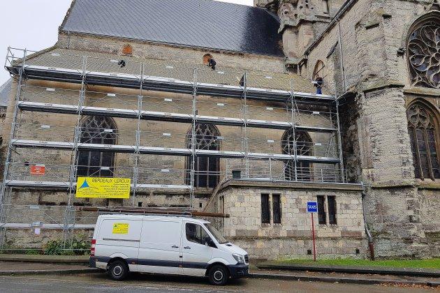 Travaux de restauration à l'église Saint-Étienne de Fécamp