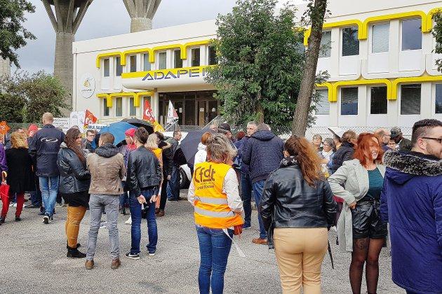 Après-midi de grève à l'Adapéi de l'Orne