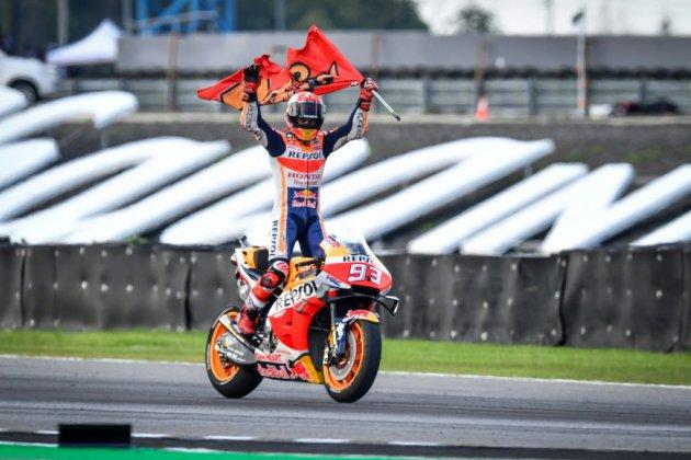 MotoGP: victoire en Thaïlande de Marc Marquez qui empoche un 6e titre mondial