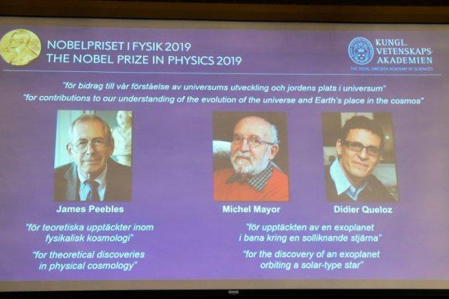 Le Nobel de physique au Canado-Américain James Peebles et aux Suisses Michel Mayor et Didier Queloz