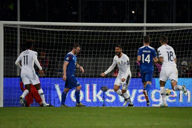 Les Bleus rament à Reykjavik mais ont un pied à l'Euro-2020