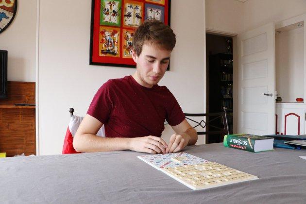 Simon Valentin, encore étudiant et déjà champion d'Europe de Scrabble