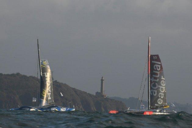 Brest Atlantiques: les quatre Ultim sont partis pour un périple d'un mois