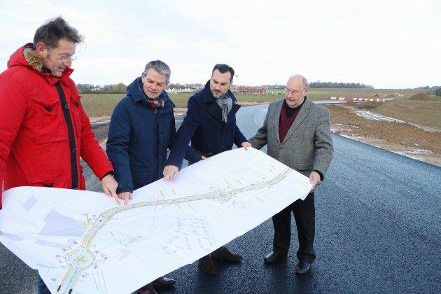 Boulevard urbain Nord-est: le secteur route d'Épron en plein chantier