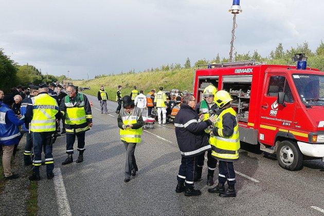 La préfète de l'Orne au chevet des sapeurs pompiers
