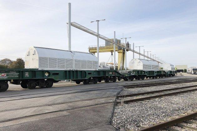 Sept tonnes decombustibles nucléaires usés acheminés vers la Hague