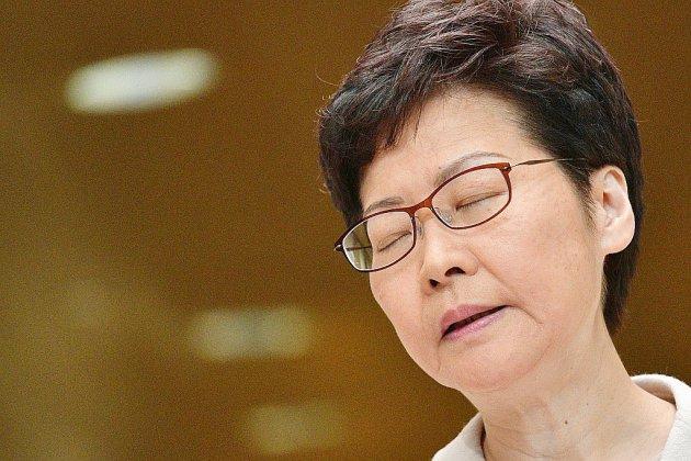 """Hong Kong: le vote traduit un """"mécontentement"""", selon la cheffe de l'exécutif"""