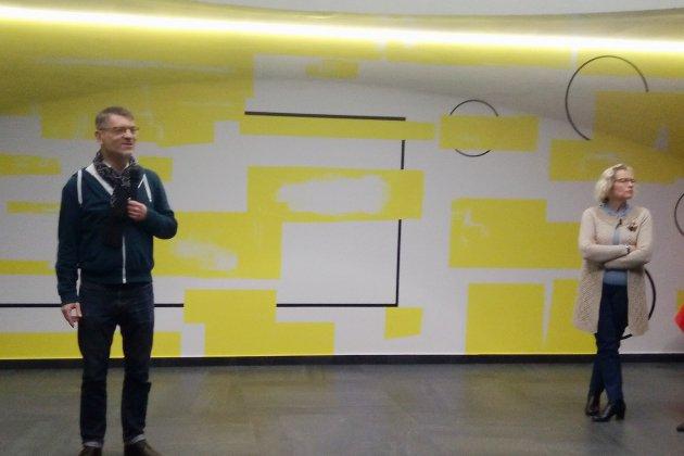 Unefresque murale pour le CHU
