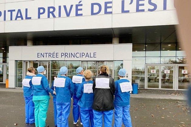 Mouvement de grève dans un hôpital