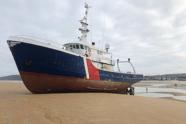 Calvados : Un navire de 26 mètres s'échoue à Dives-sur-Mer