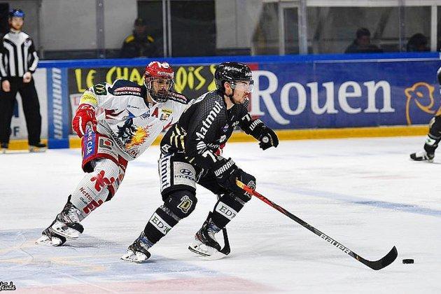 Les Dragons de Rouen font tomber le leader Grenoble au bout de la nuit