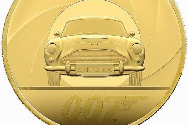 Une pièce d'or de 7kg à l'effigie de James Bond