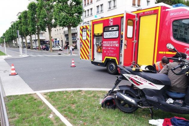 Une collision entre un scooter et une voiture fait un blessé