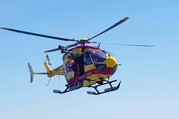 Un pilote de motocross en urgence absolue après une chute