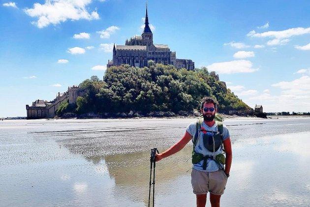 Originaire de Dieppe, Marcouf parcourt 4000km à pieds