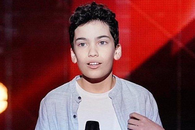 Nathan, 12 ans, originaire d'Alençon, sur le plateau de The Voice Kids