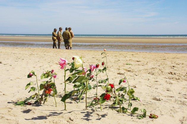 Les enfants des soldatsdu commando Kiefferopposés au D-Day Land