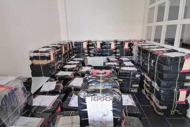 15500 paquets de tabac de contrebande saisis sur l'A29
