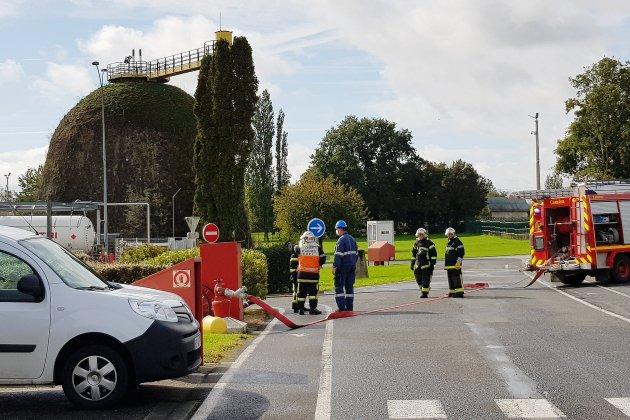 Grave fuite de gaz sur le site Seveso: un test des services de secours