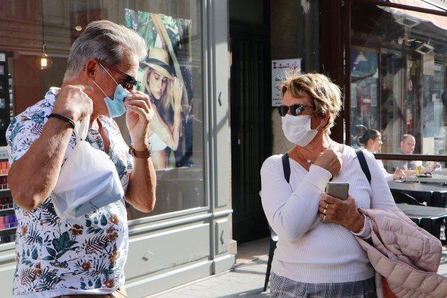 Le port du masque obligatoire dans toute la ville
