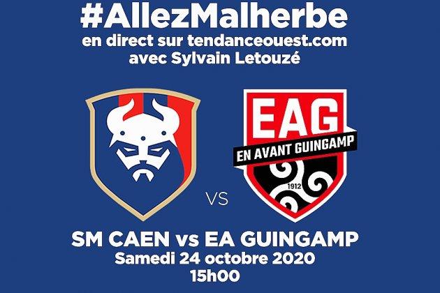 Suivez le match Caen-Guingamp en direct avec Tendance Ouest!