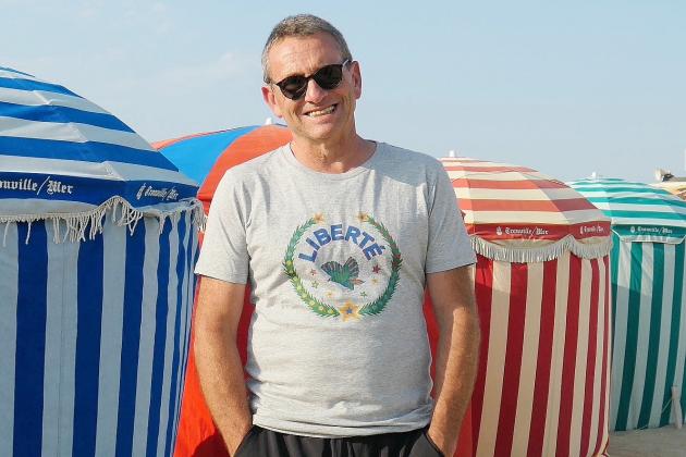 Guy Birenbaum photographie les plages de Deauville et Trouville