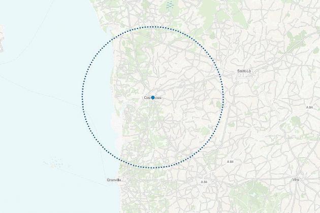 Découvrez le rayon de 20km autour de votre domicile