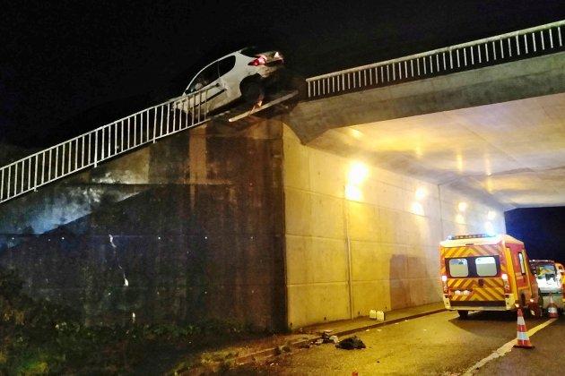 Unautomobiliste éjecté de sa voiture après plusieurs tonneaux
