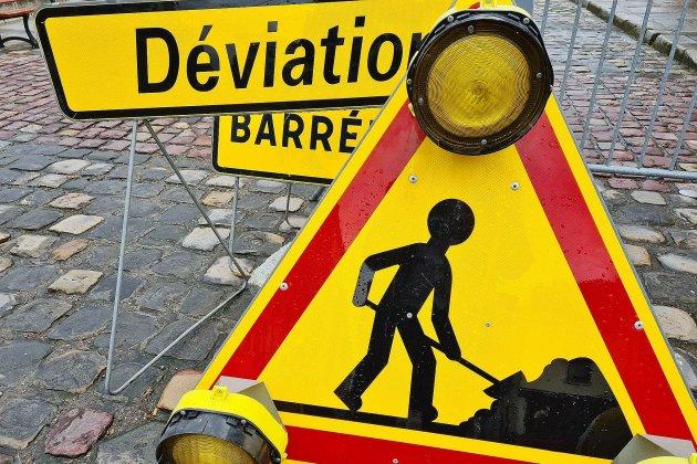Fuite de canalisation: travaux et fermeture de route