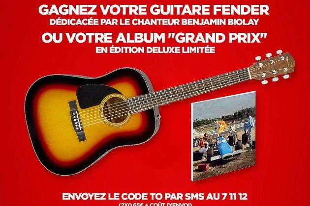 À gagner: une guitare Fender dédicacée par Benjamin Biolay!