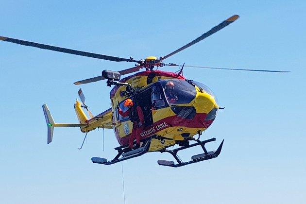 Un motard héliporté après un accident de la route