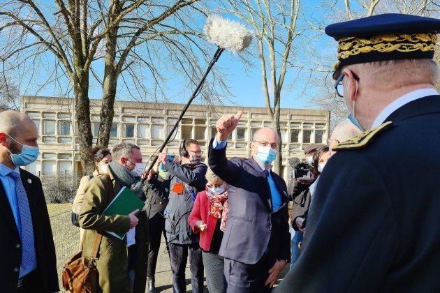 Jean-Michel Blanquer en visiteà Brécey vendredi 26 mars