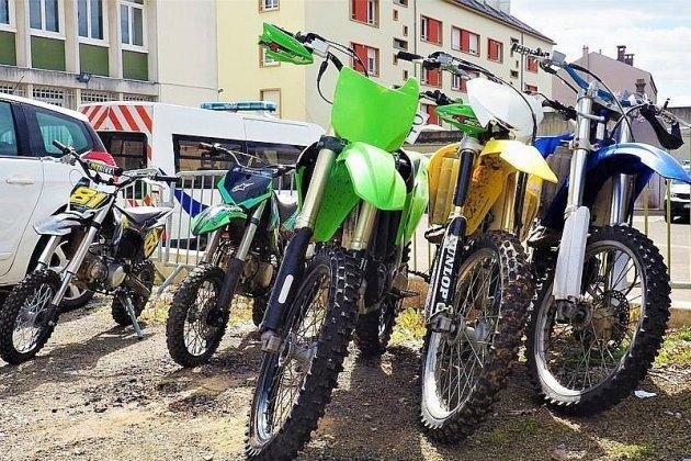 Rodéos urbains: cinq motos saisies dans le quartier de Perseigne