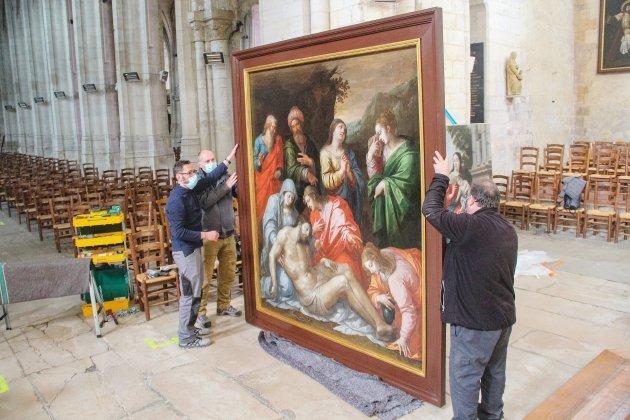 Des tableaux classés de l'église abbatiale viennent d'être restaurés