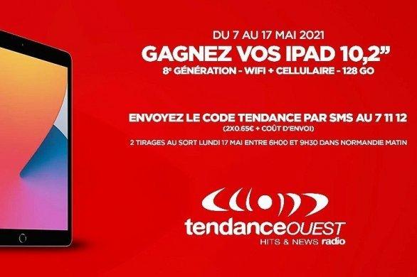 Gagnez une tablette iPad 8e génération avec Tendance Ouest