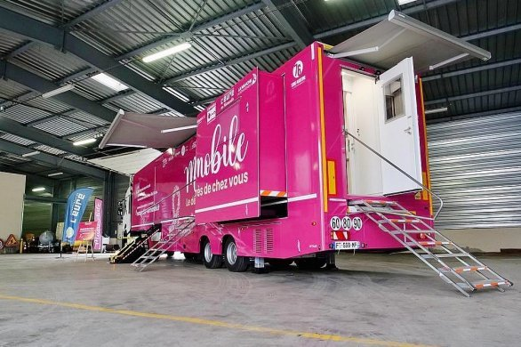 Un camionambulantpour se faire détecterdu cancer du sein