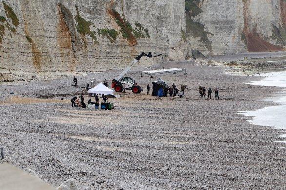 Un tournage pour Louis Vuittonsous le regard des promeneurs