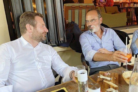 Quand Édouard Philippe s'affiche en terrasse avec Laurent Bonnaterre
