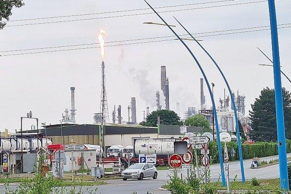 Avant l'exercice, un vrai incident se produit à Exxon Mobil