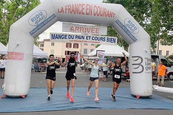 """L'arrivée en Normandie, de l'édition 2021 de""""La France en courant"""""""