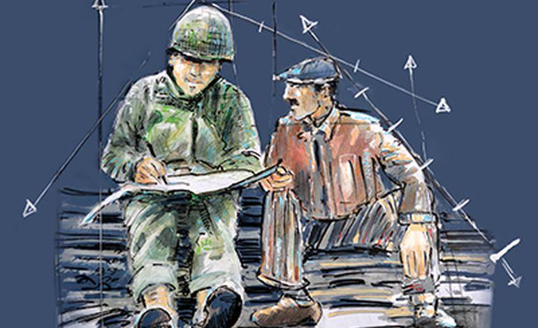 "Les dessins originaux des ""Plumes de la Liberté"" exposés à Port-en-Bessin"
