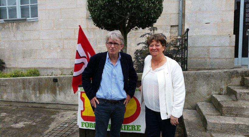 Jean-Claude Mailly et Liza-France Paroisse.    Tendance Ouest