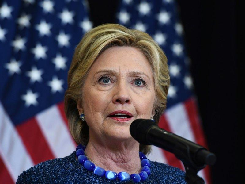 Hillary Clinton lors d'une conférence de presse le 28 octobre 2016 à Des Moines - JEWEL SAMAD [AFP]