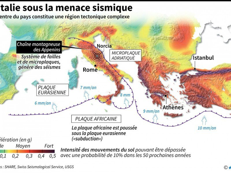 L'Italie sous la menace sismique